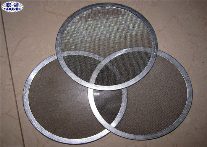 Multi - Layer Stainless Steel Filter Disc , 13 / 47 Mm Sintered Metal Disc With Edge